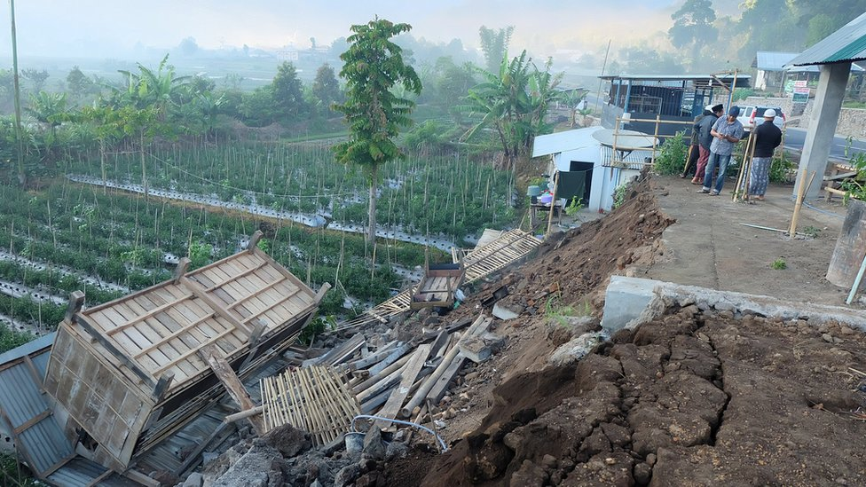 Damage is seen following an earthquake in Lombok, Indonesia, July 29, 2018