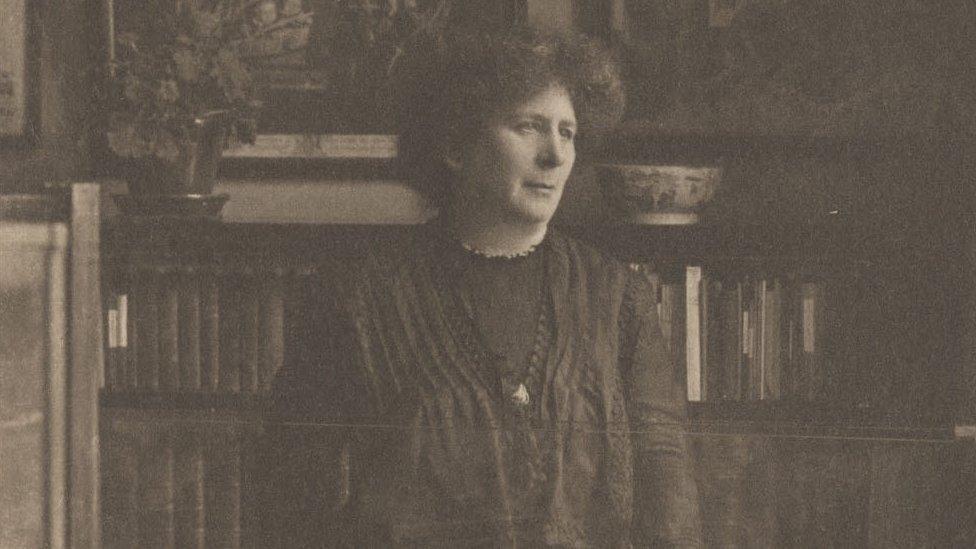 Hertha Ayrton in her laboratory