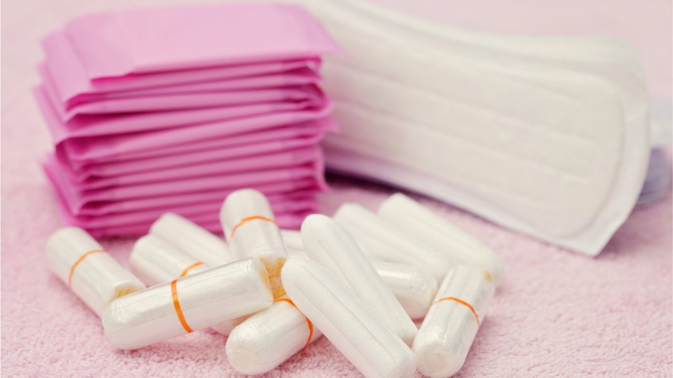 tampons and towels