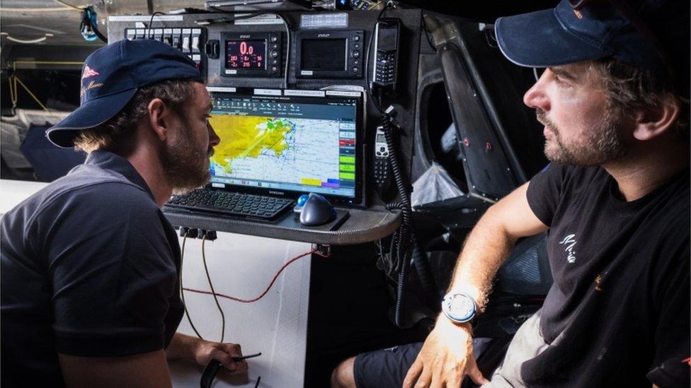 Pierre Casiraghi and Boris Herrmann aboard the Malizia II