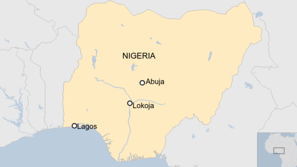 Map on Nigeria