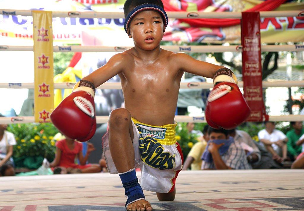 Un niño en el ring en 2014.