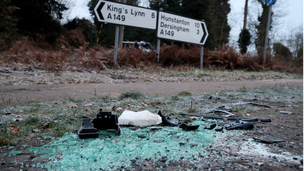 Prince Philip crash: Debris for sale on eBay