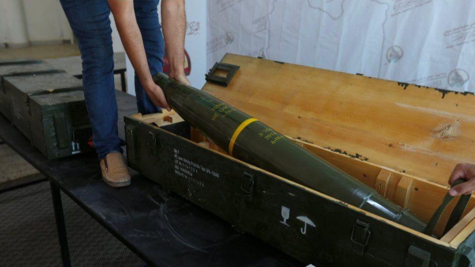 الصواريخ عثر عليها جنود قوات الحكومة المعترف بها دوليا