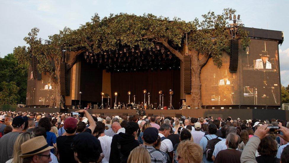 Hyde Park stage is set for Bob Dylan