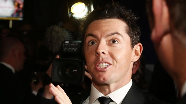 Rory McIlroy was in Belfast for a charity gala dinner