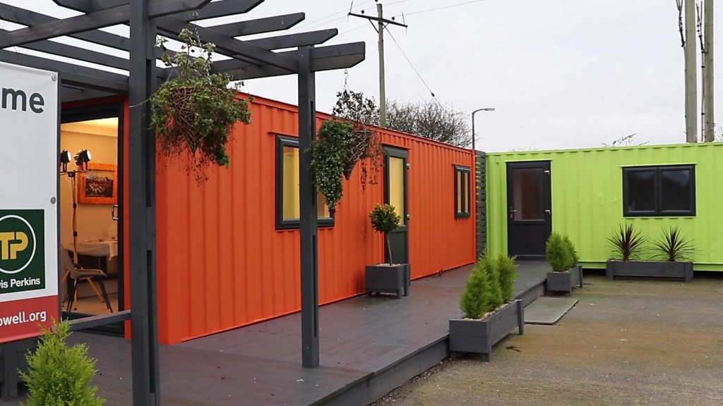 Shipping containers converted into affordable small homes