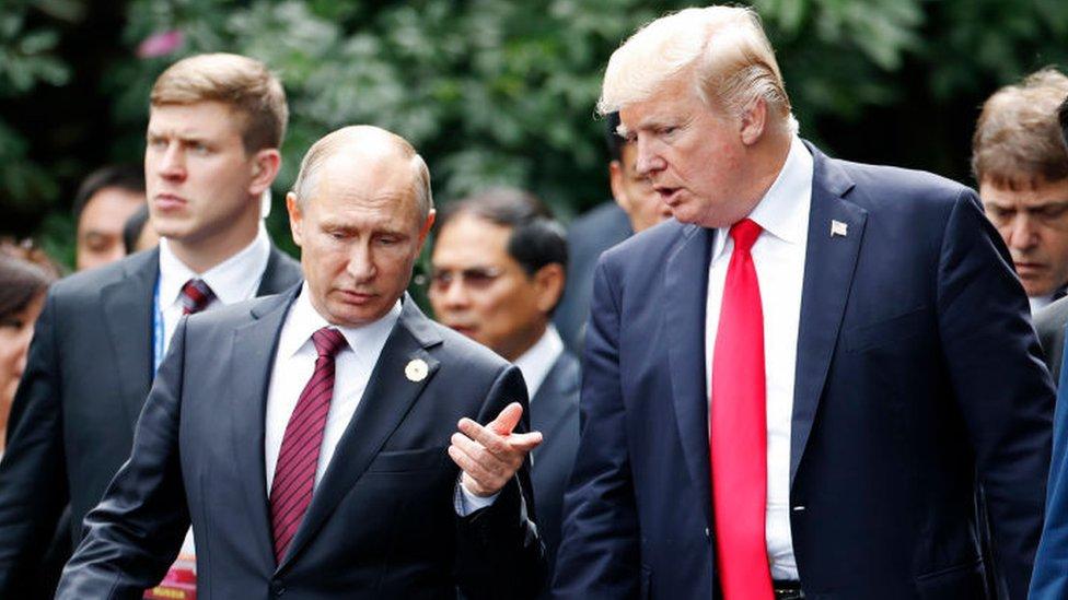 Donad Trump y Vladimir Putin