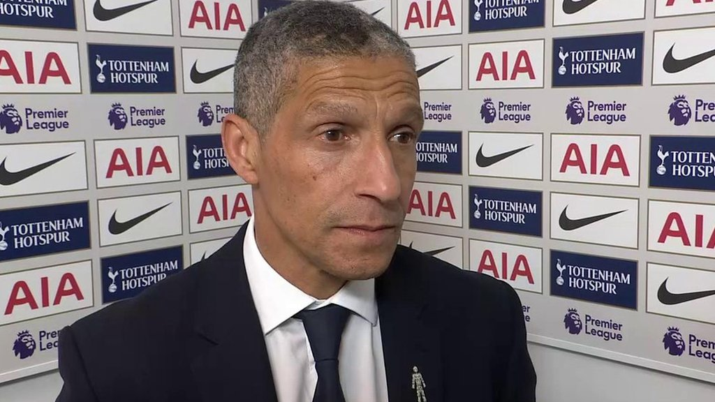 Tottenham 1-0 Brighton: Hughton 'incredibly disappointed' after late Spurs winner