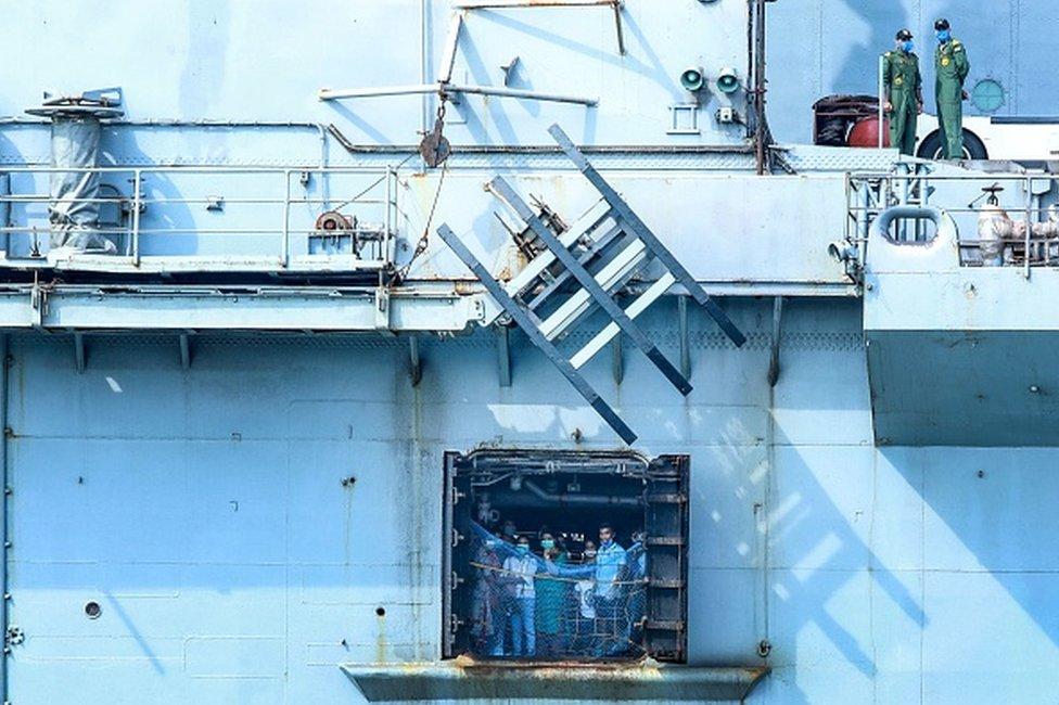 Kerala expatriates on a ship