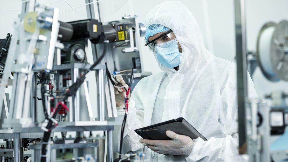 Trabajador de empresa tecnológica