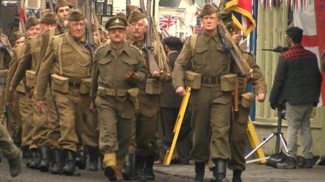 Dad's Army cast in Bridlington