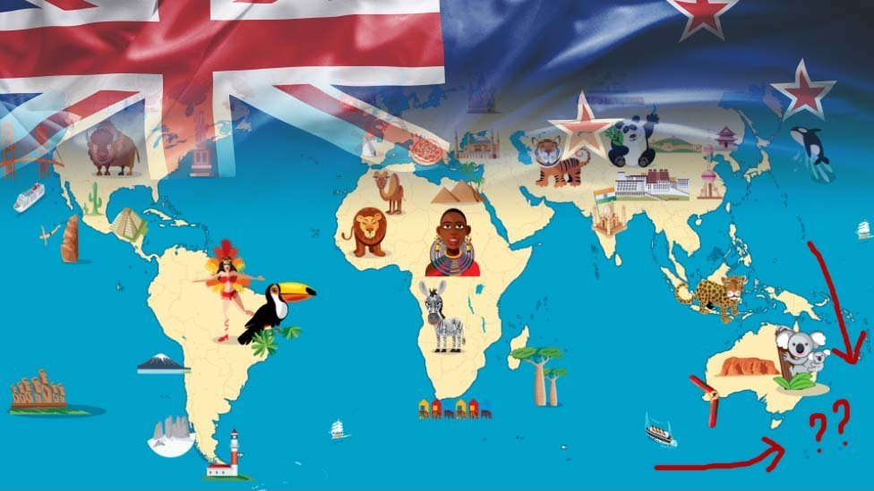 Mapa sin Nueva Zelanda