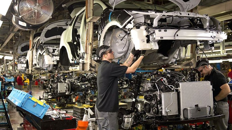 Workers at Nissan Sunderland plant