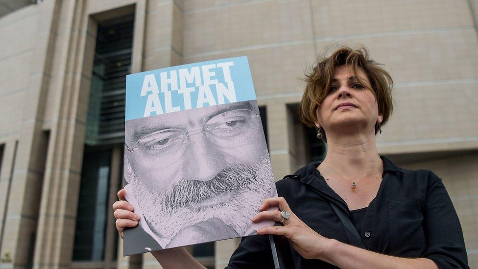 Journalist campaigning for release of Ahmet Altan, 19 Jun 17