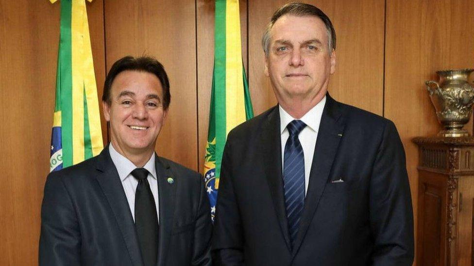 Presidente do Patriota Adilson Barroso e presidente Jair Bolsonaro
