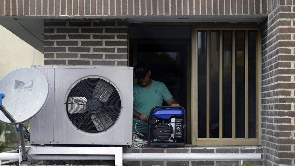 Acondicionador de aire con planta eléctrica en Venezuela