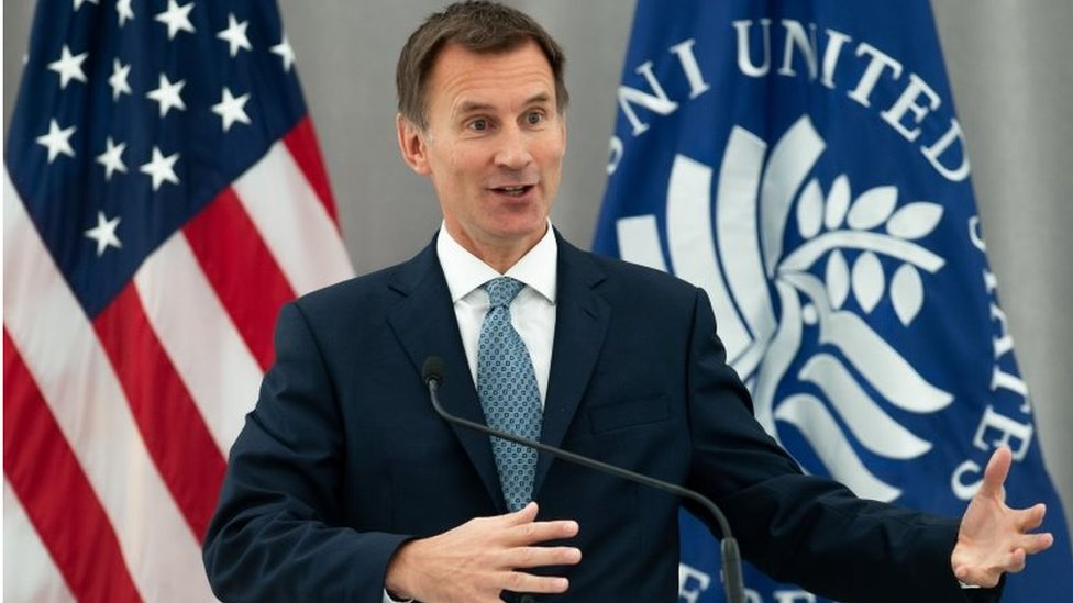 What does Jeremy Hunt want from the United States?
