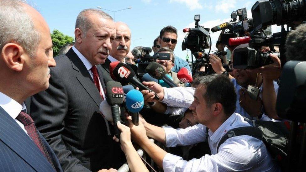 الرئيس التركي حذر واشنطن من أنه سيبحث عن حلفاء جدد