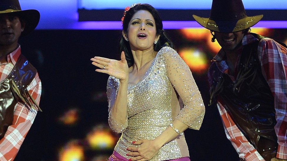 Bollywood actress Sridevi Kapoor performs at the 14th International Indian Film Academy (IIFA) Awards ceremony at the Venetian hotel in Macau, 6 July 2013