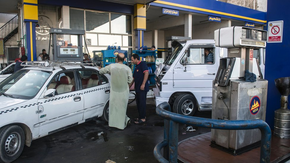 Gas station in Egypt