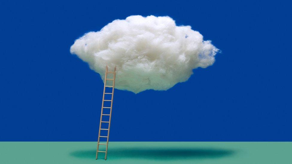 ladder to a cloud
