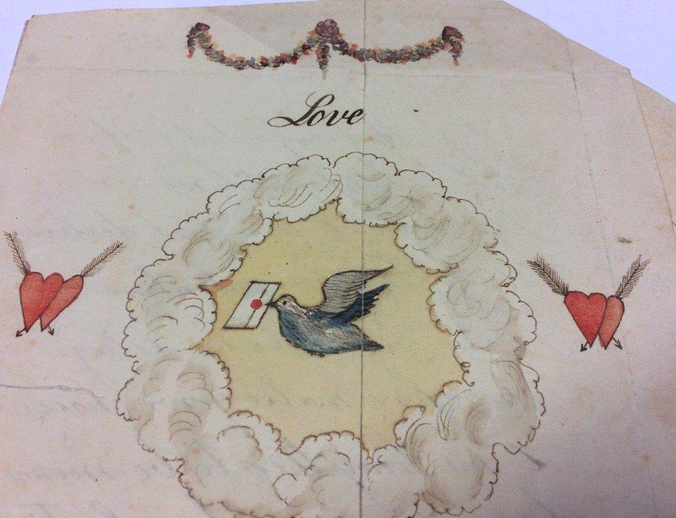Čestitka za Dan zaljubljenih koja potiče iz 1790.