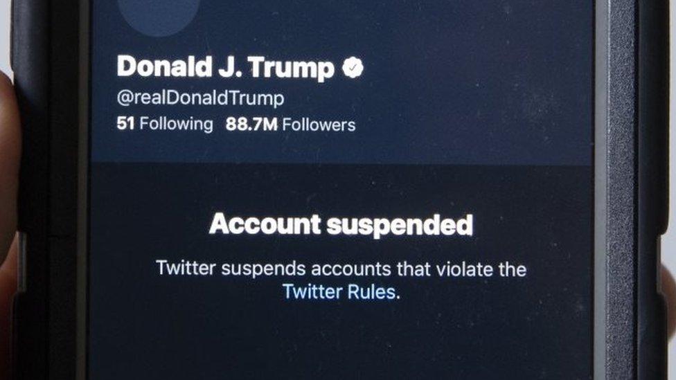 特朗普總統的推特賬戶被取消