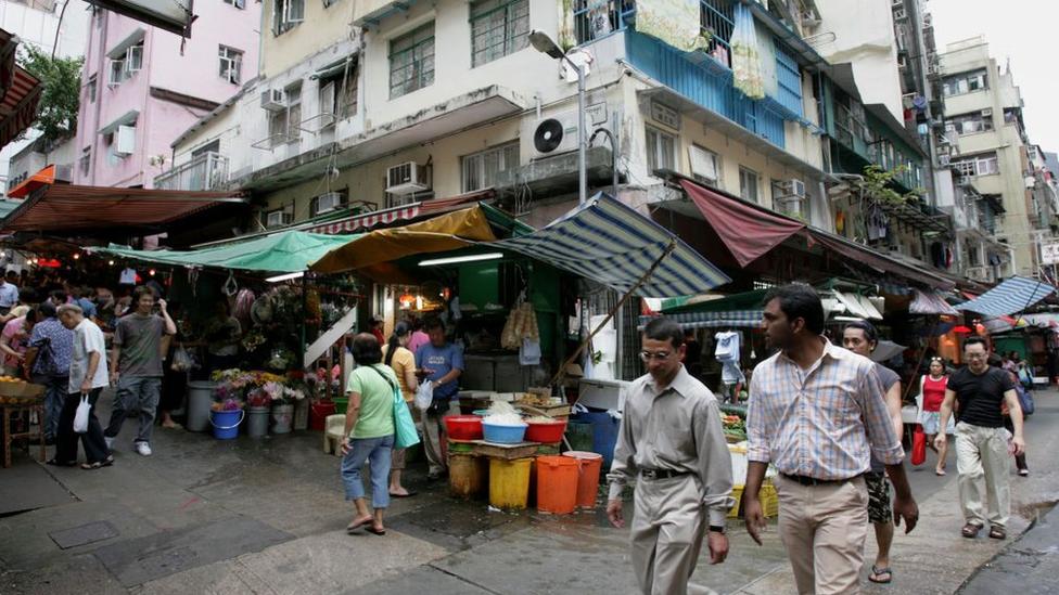 çin'de bir pazar