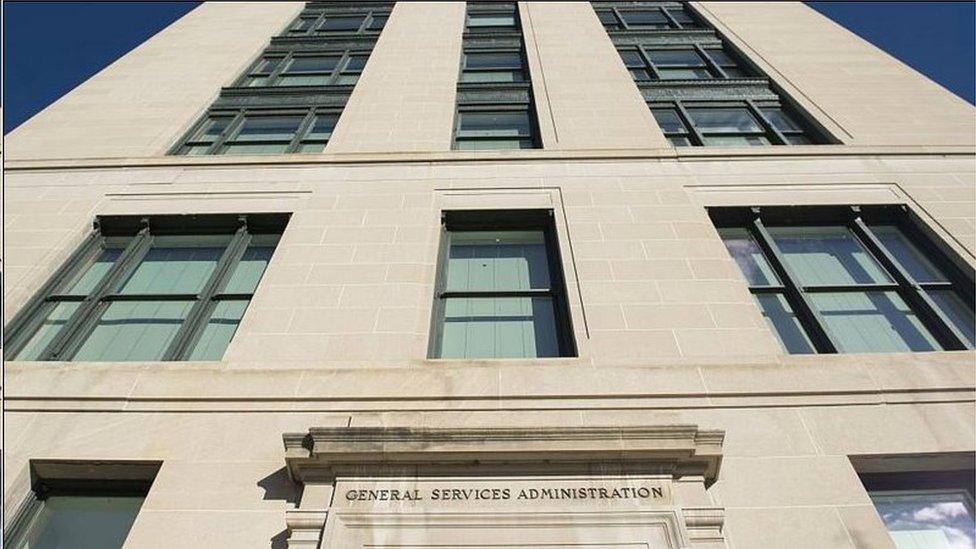 美國總務局負責過渡交接工作