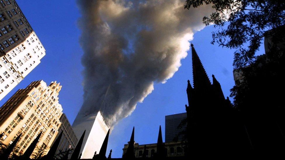 Las torres después de los ataques.