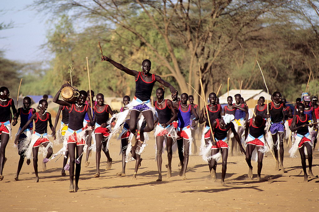 A Sudanese dance at Kakuma refugee camp