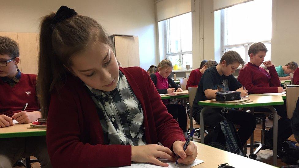 Secondary school pupils in Estonia
