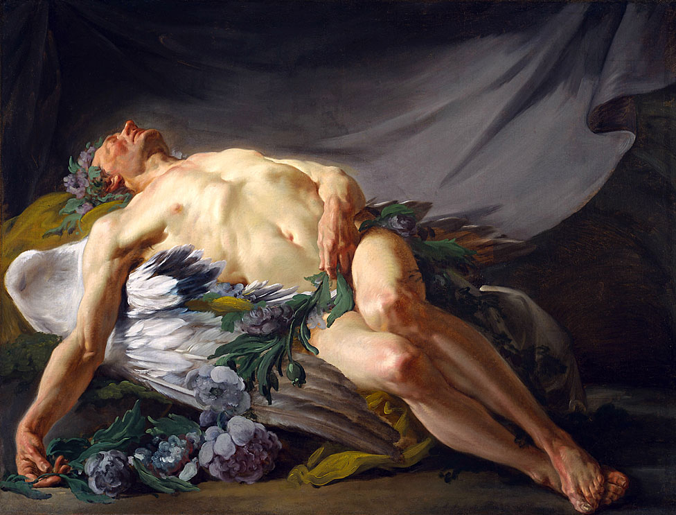Morpheus, pintado por Jean-Bernard Restout (1732-1797)