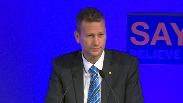 Nathan Gill speaking at the UKIP 2015 autumn conference
