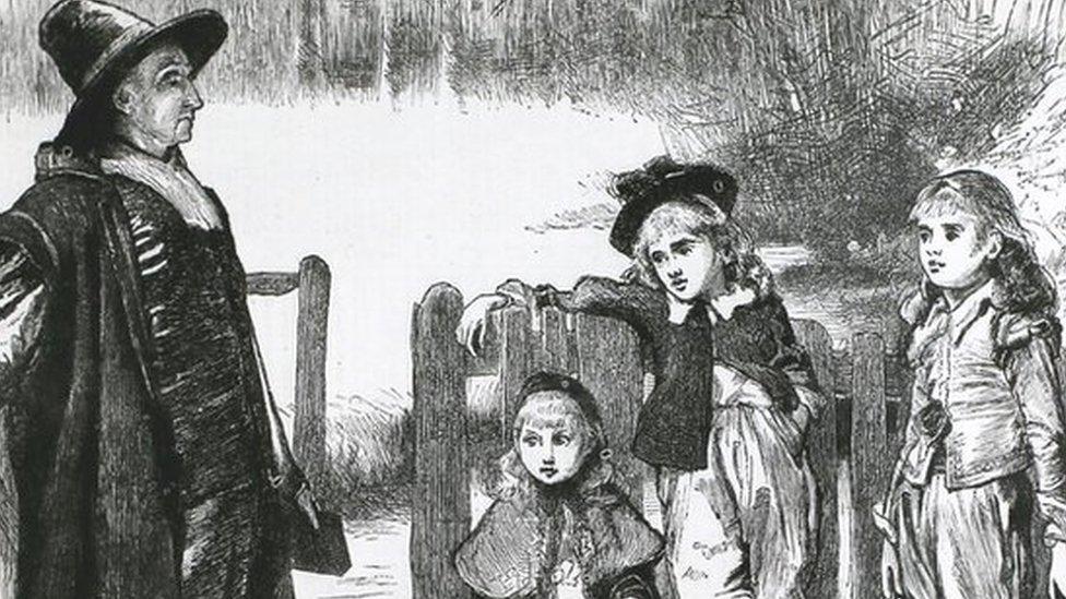 Ilustração chamada Natal 'Christmas under the Commonwealth'
