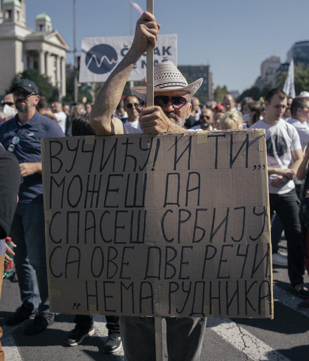 Transparent na protestu, Ekološki ustanak