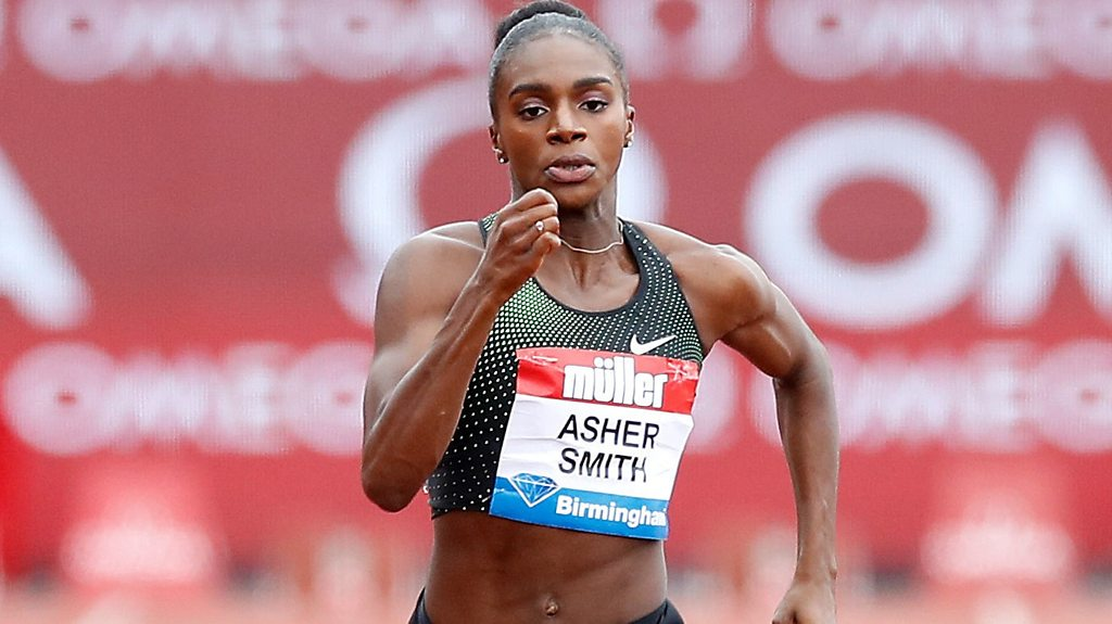 Birmingham Grand Prix: Great Britain's Dina Asher-Smith finishes second in 200m
