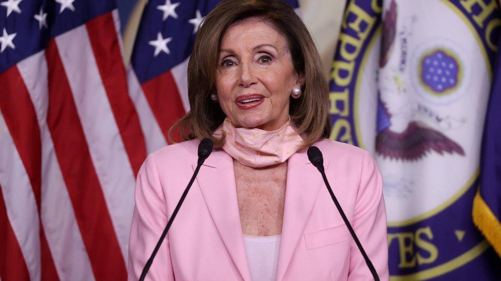 Nancy Pelosi, presidenta de la Cámara de Representantes de EE.UU.