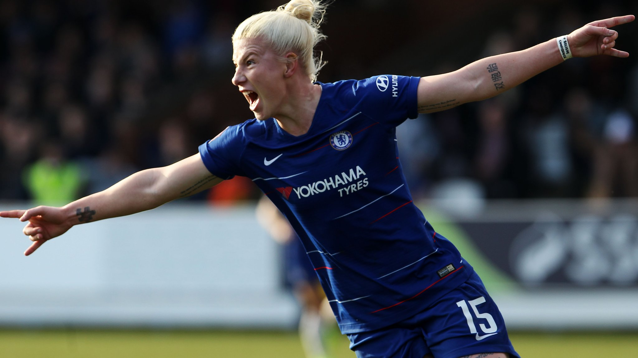 Chelsea 3-0 Arsenal: Bethany England double seals Chelsea FA Cup quarter-final spot
