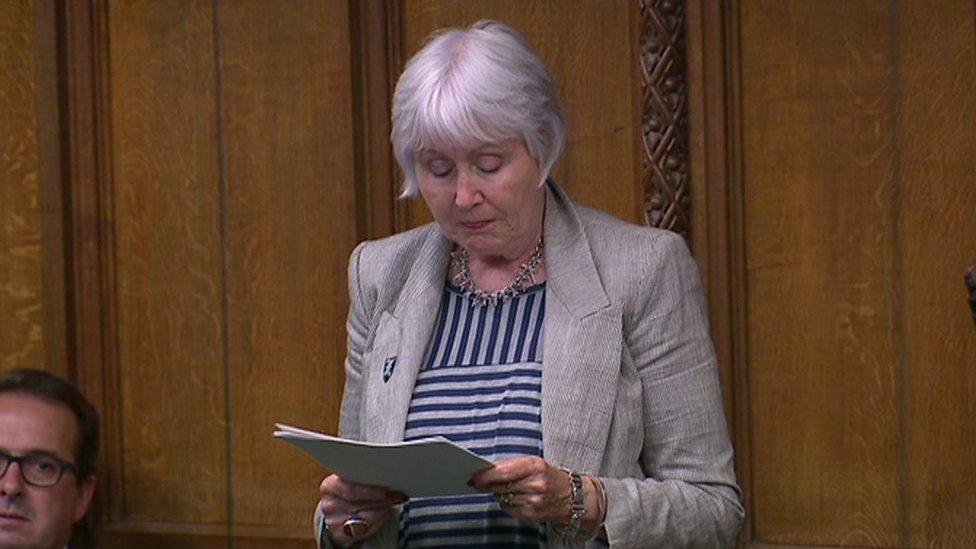 MP Madeline Moon in tears in terminal illness speech