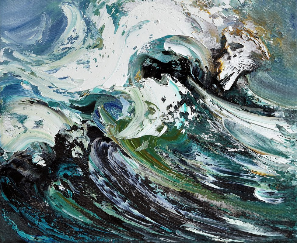 Crest of a Wave by Maggi Hambling