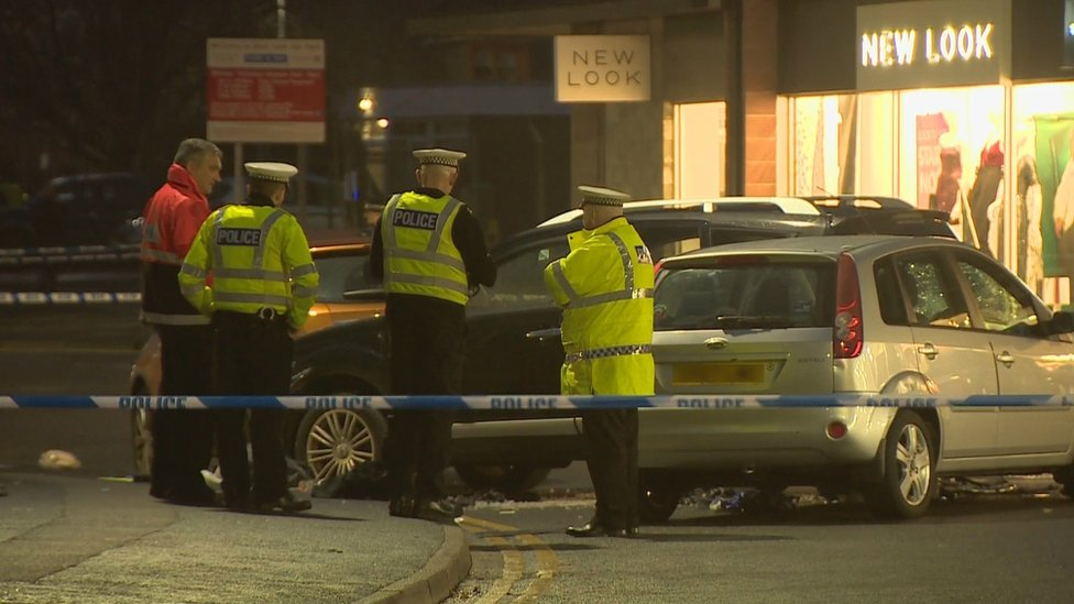 Three pedestrians struck by car in Inverurie