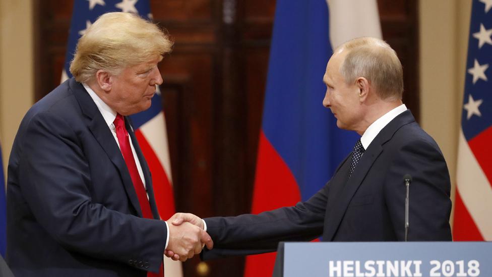 Donald Tramp i Vladimir Putin u Helsinkiju 2018.