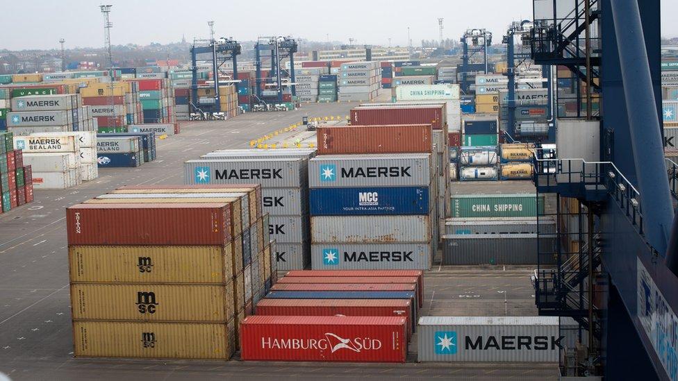 Felixstowe container port, 2015