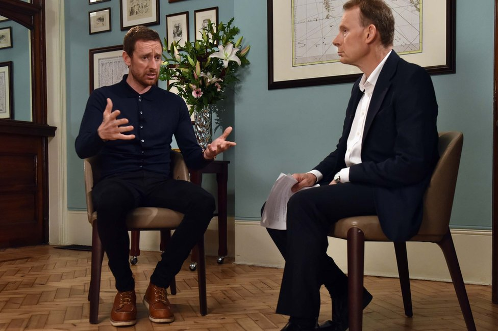 Sir Bradley Wiggins and Andrew Marr