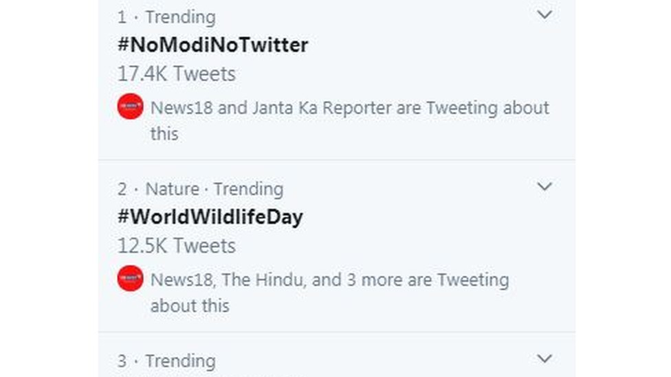 #NoModiNoTwitter is at the top of India twitter trends after PM Modi's tweet