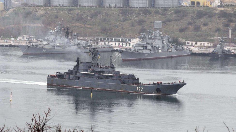 سفينة تابعة للبحرية الروسية