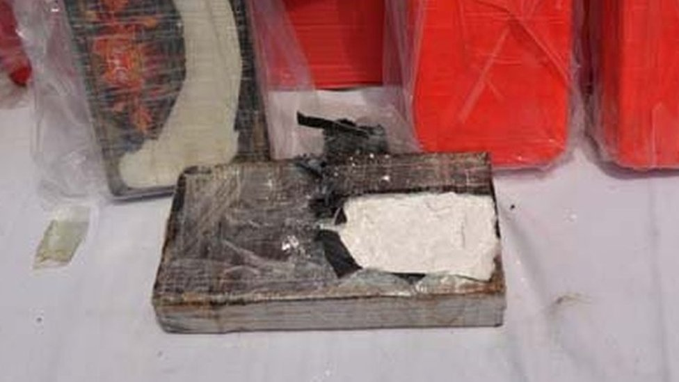 Cocaine found on the container