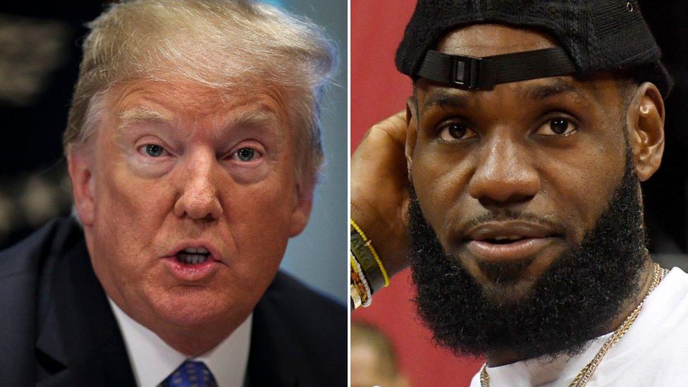 Donald Trump y Lebron James.